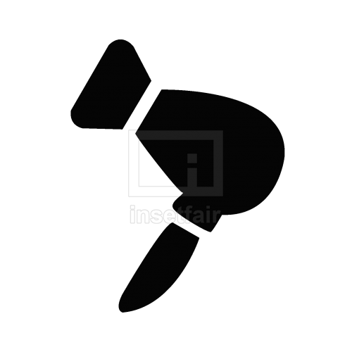 Hair dryer flat icon PNG file