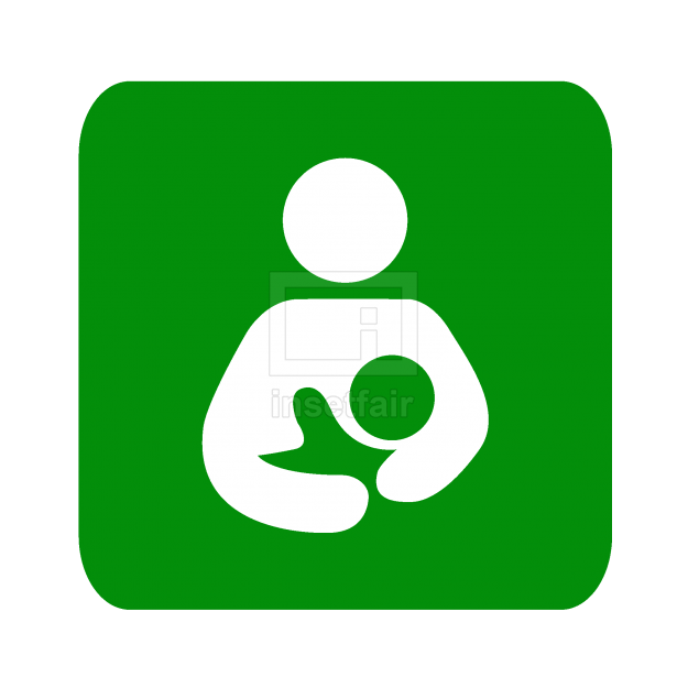 Mother feeding baby creative icon in png format