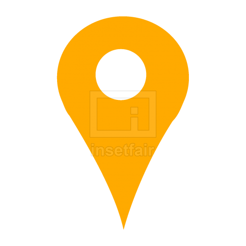 Orange transparent location map address pin icon copy