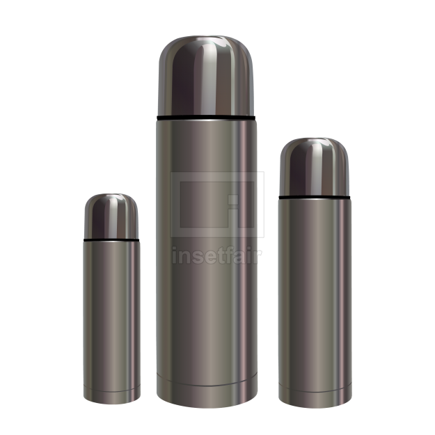 Vacuum flask stainless steel coffee bottle thermos vector png image