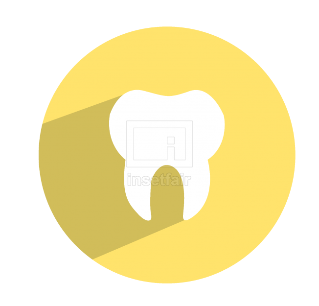 White tooth flat icon vector png file for free
