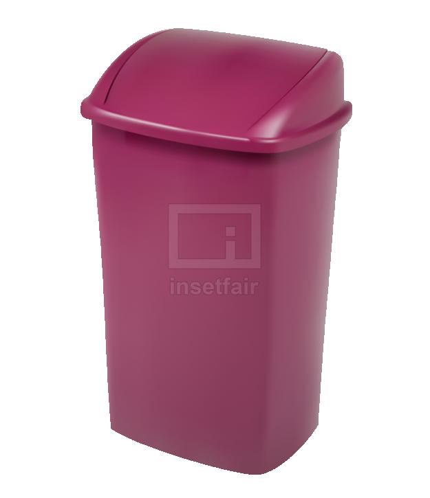Supreme Plastic Dustbin in Shining maroon color