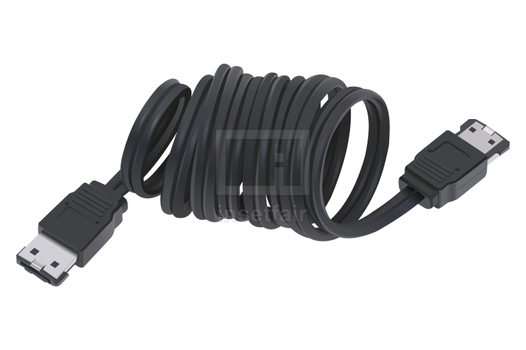 Extendable data transfer cable vector graphics for free