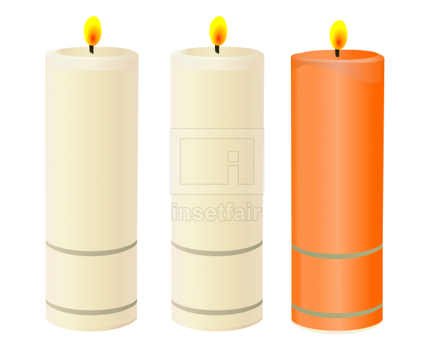 Mirage Flameless Mini Melted Pillar Candles vector png