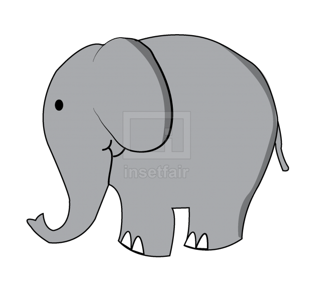 Cartoon elephant model vector sketch free for commercial use