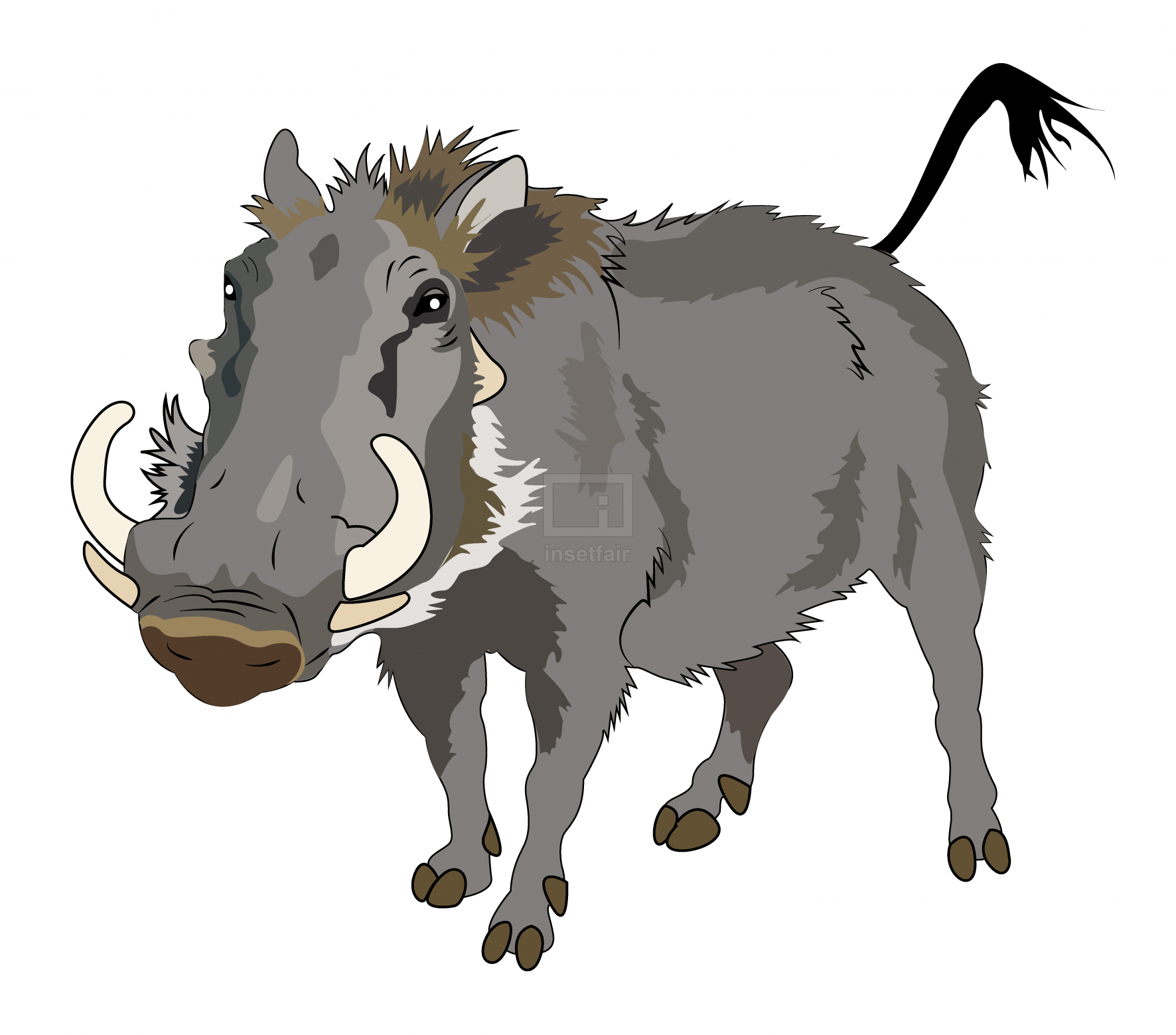 Warthog wild animal vector illustration free for commercial use at Insetfair