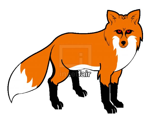 Orange fox cartoon animal vector stock image free for commercial use