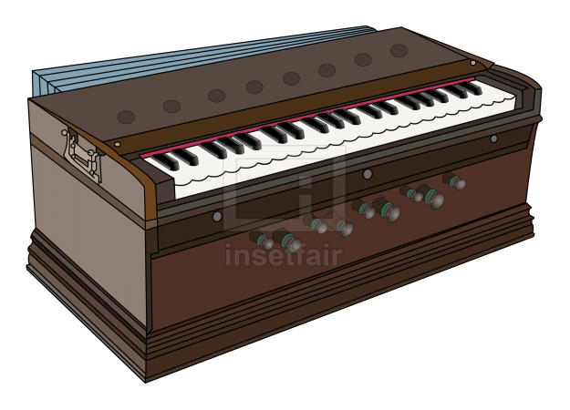 Harmonium a  pump organ or  reed organ or melodeon