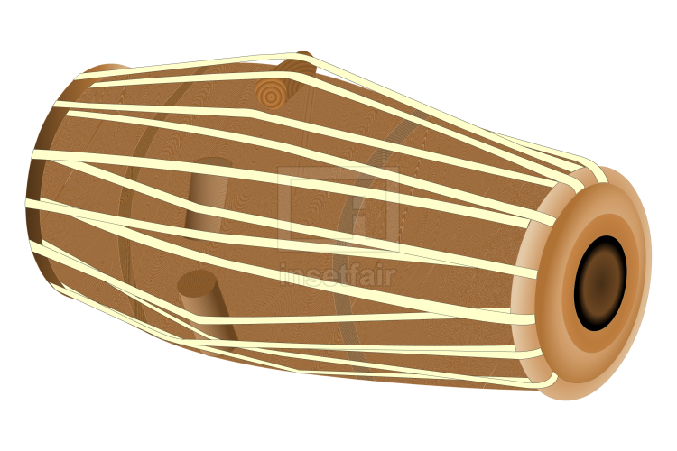 Pakhawaj, Mridangam barrel shaped two headed drum Indian music instrument