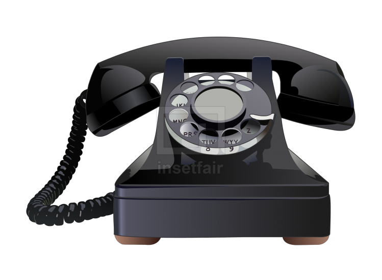 Retro vintage telephone landline vector royalty free png stock image