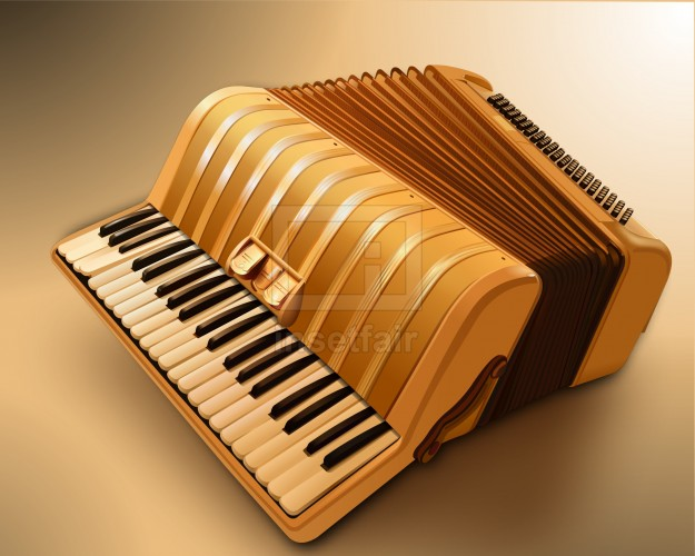 Accordions a box shaped musical instruments