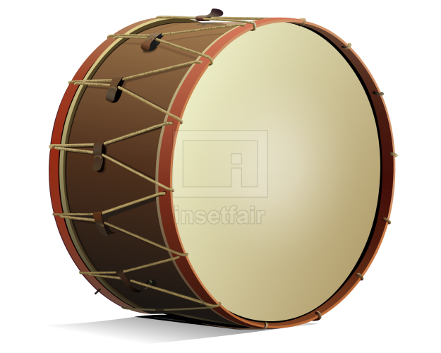Bass drum or kick drum percussion instrument