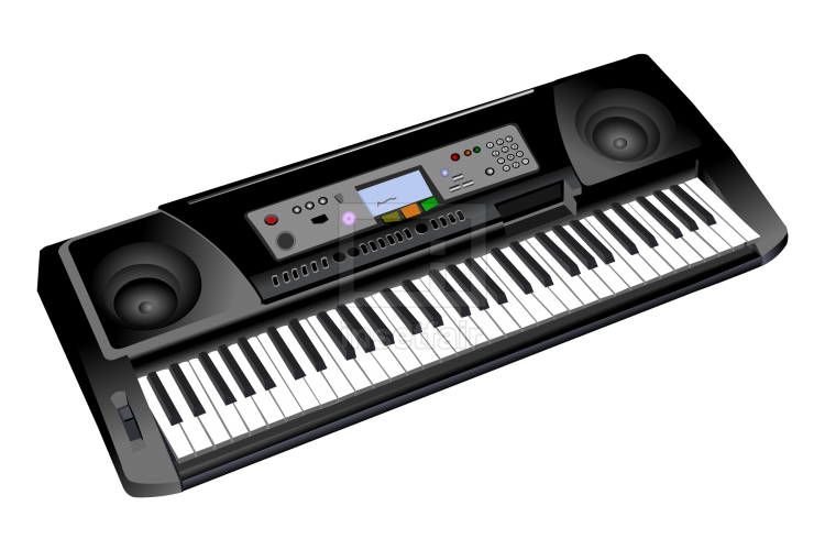 Electronic musical keyboard piano vector flash graphics png image