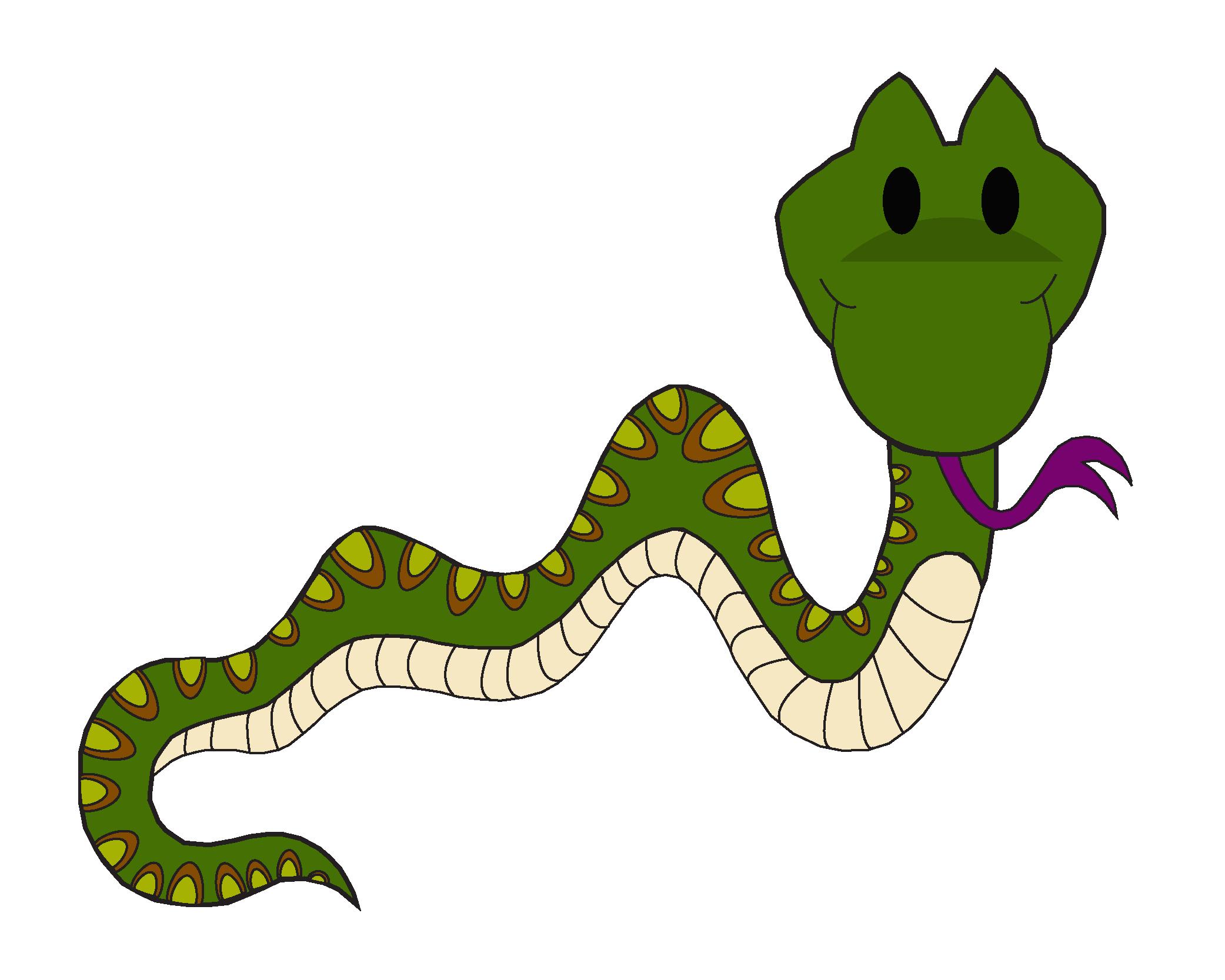 Cartoon snake vector illustration