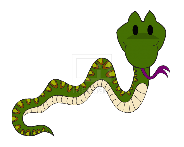 Cartoon snake vector illustration