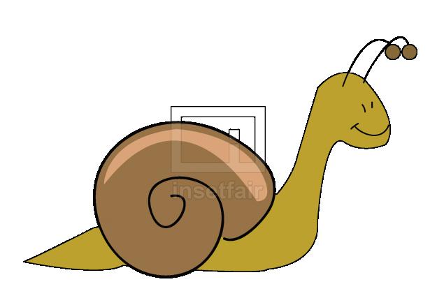 Snail clipart vector illustration