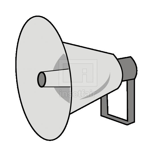 Bullhorn loud speaker simple vector clip art free for commercial use