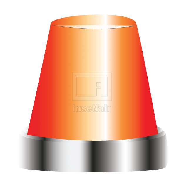 Emergency siren vector graphic PNG image free for commercial use