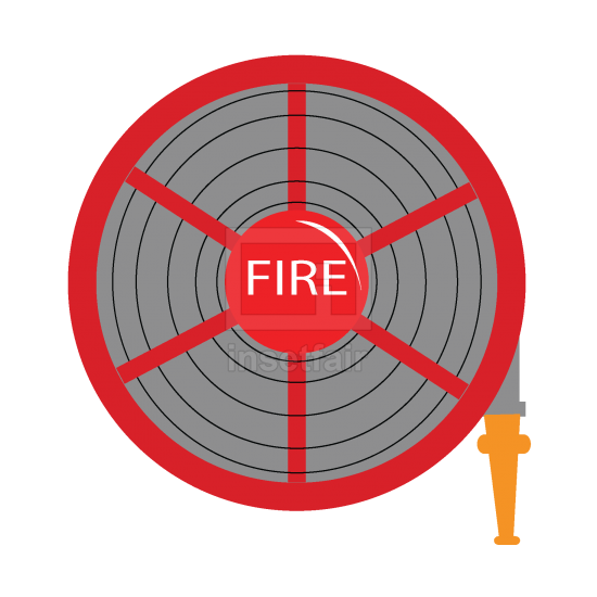 Fire hose reel Vector illustrator png image free for commercial use
