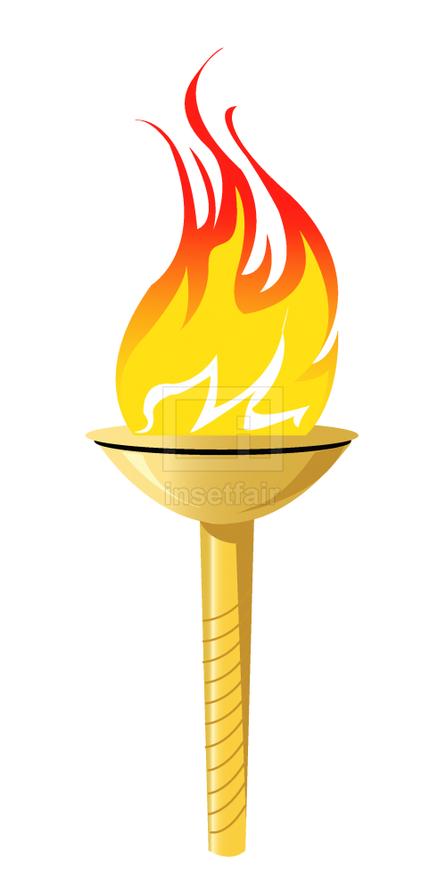 Flaming torch cartoon vector image free for commercial use