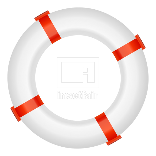Antique Life Buoy isolated with clipping path vector flash graphics royalty free png image