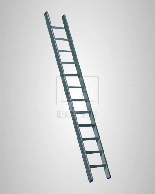 Long iron ladder vector drawing with adobe flash royalty free
