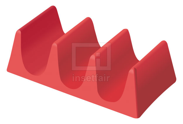 Red plastic holder for plates and accessories vector flash graphics royalty free png image