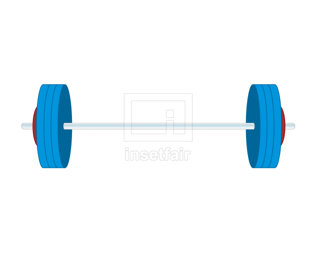 Barbell Weight lift bar Vector free image