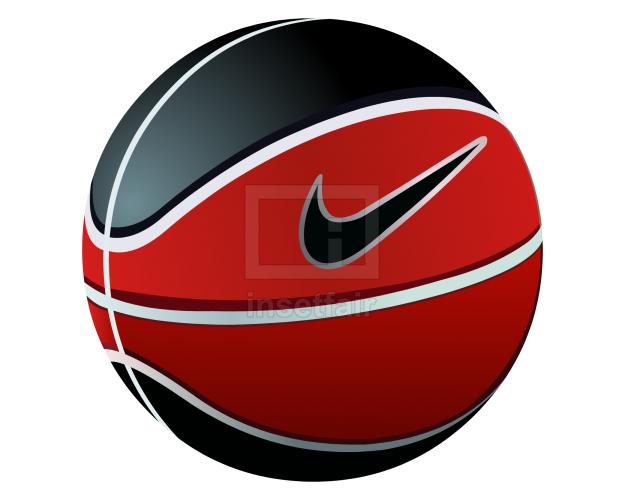 Basketball vector image with nike logo png download
