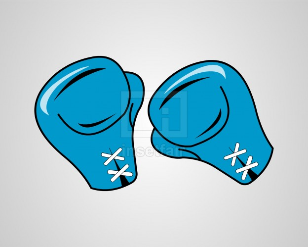 Blue boxing gloves vector set free download