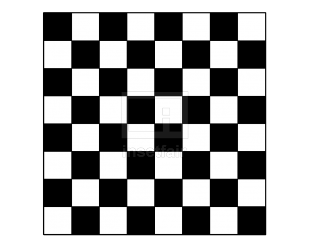 Chess board simple black and white illustration
