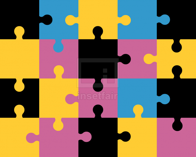 Colorful Jigsaw Puzzle free PNG vector Picture