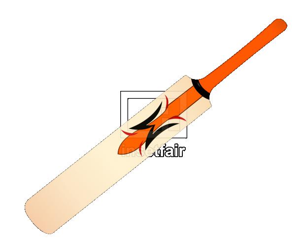 Cricket bat clip art vector image PNG file