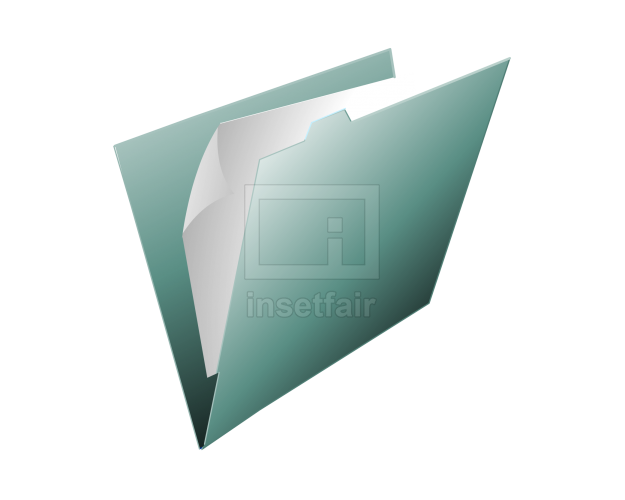 Windows computer folder icon with papers