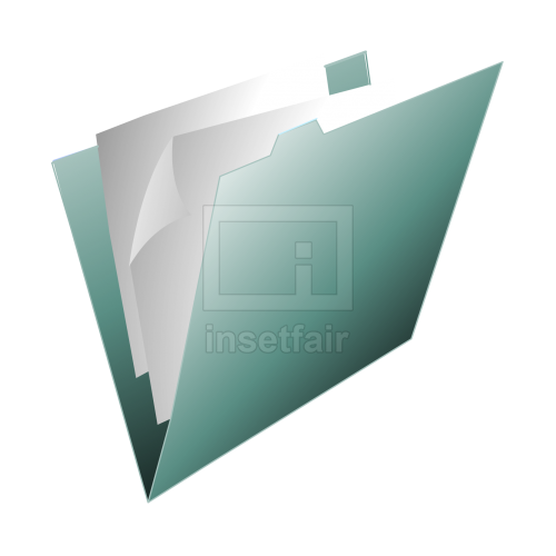 Folder icon with paper window vector flash graphics