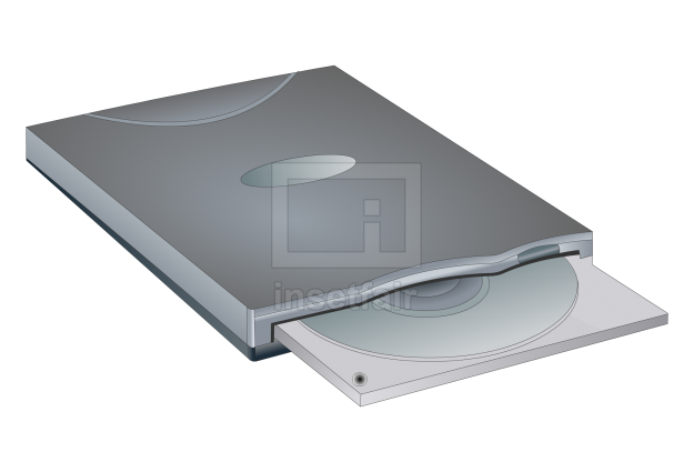 External CD-DVD drive vector free png clipart