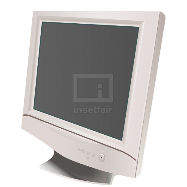 Computer LCD monitor vector clipart illustration free png image