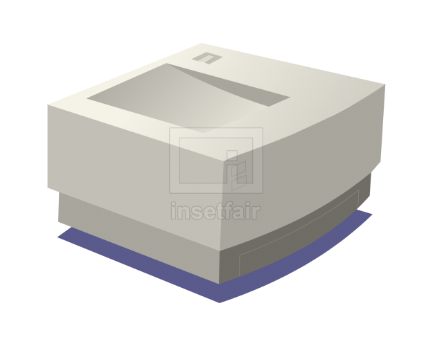 Computer photocopier scanning machine vector clipart free flash graphics