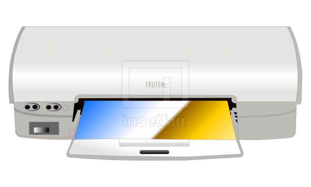 Basic desktop color printer with printed sheets