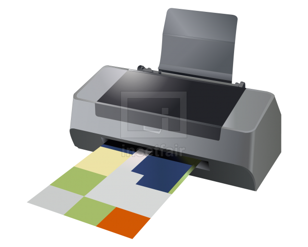 Computer printer flash vector graphics free png image