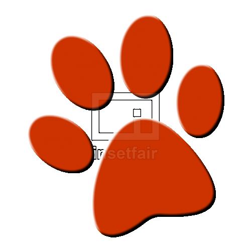 Animal paw print shape with drop shadow