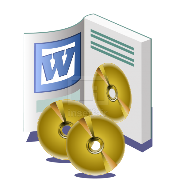 Microsoft word software installation manual vector clipart