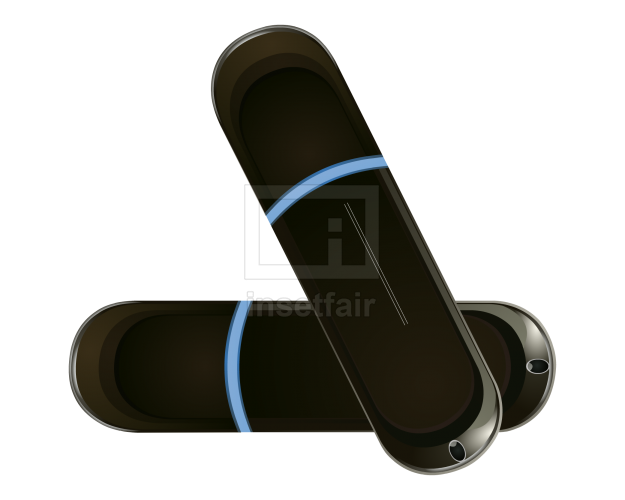 Black pen drive storage device flash vector graphics