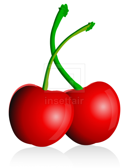 Cherry fruit vector drawing fla royalty free png image
