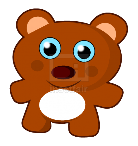 Teddy bear vector cartoon clipart image