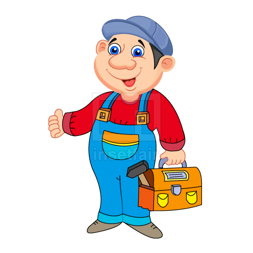 Labour carrying tool kit with hammer vector png illustration adobe AI source free