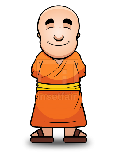 Buddhist Monk vector illustration free png images