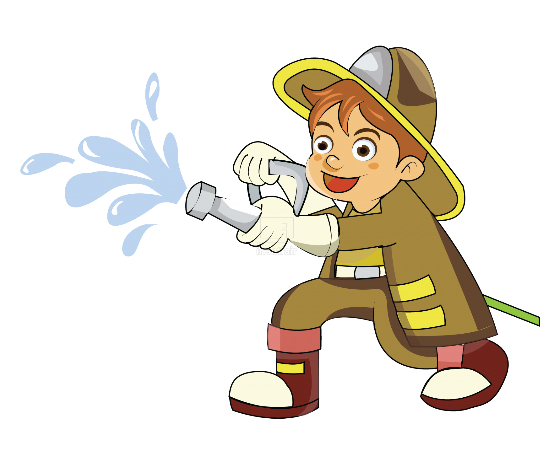Fireman on duty vector illustration free png images at Insetfair