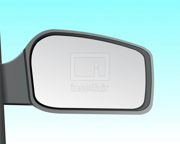 Automobile side view mirror stock vector png image