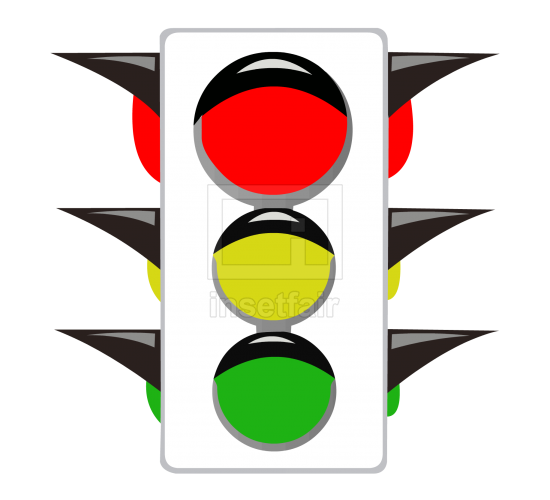 Cartoon traffic signal light clip art
